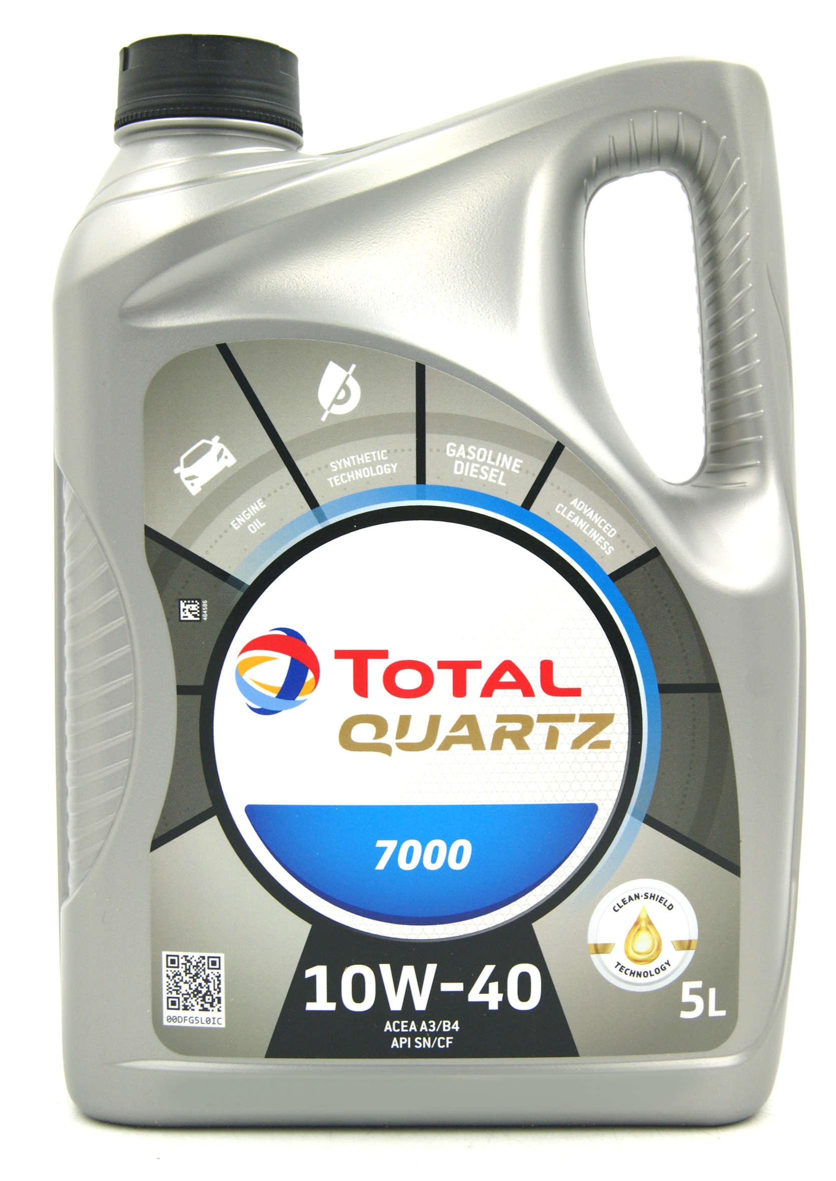 Total Quartz 7000 10W40 5L Olej Silnikowy Półsyntetyczny