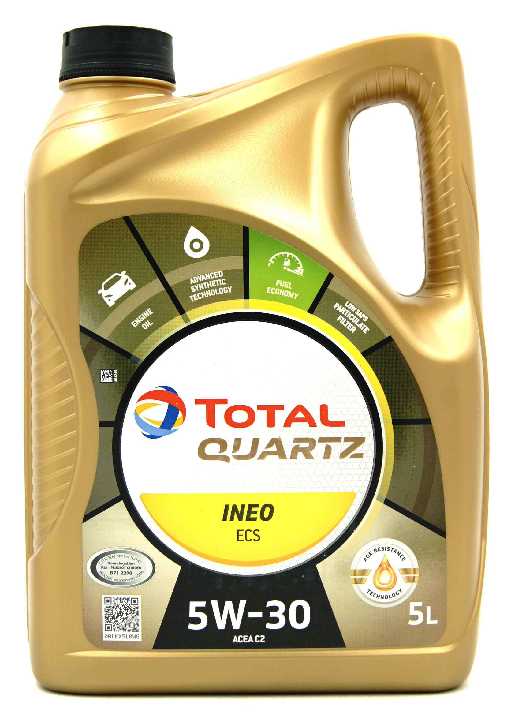 Total Quartz Ineo ECS 5W30 Fuel Economy 5L Olej Silnikowy Syntetyczny