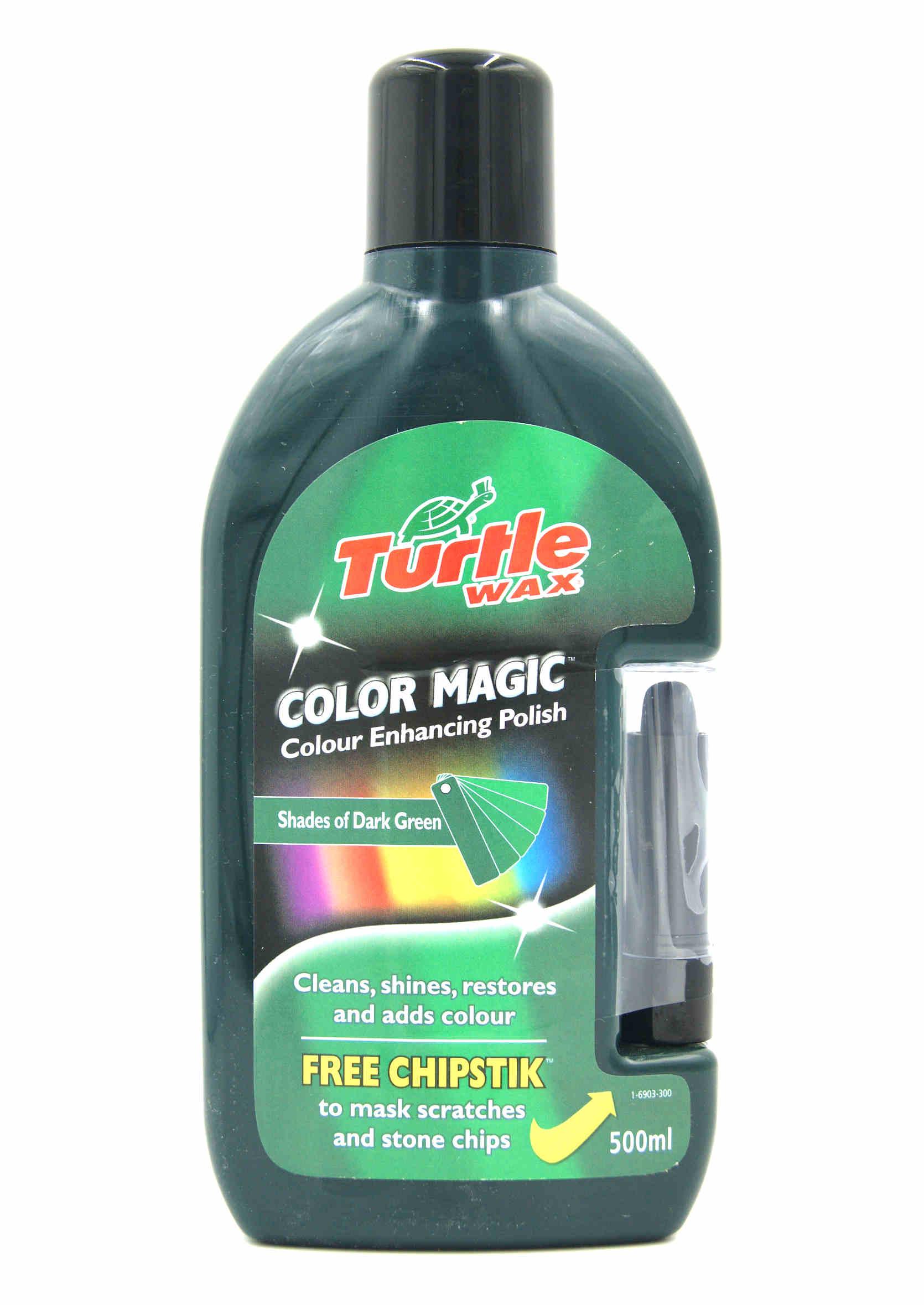 Color Magic Wosk koloryzujący Zielony 500ml + kredka na rysy Turtle Wax