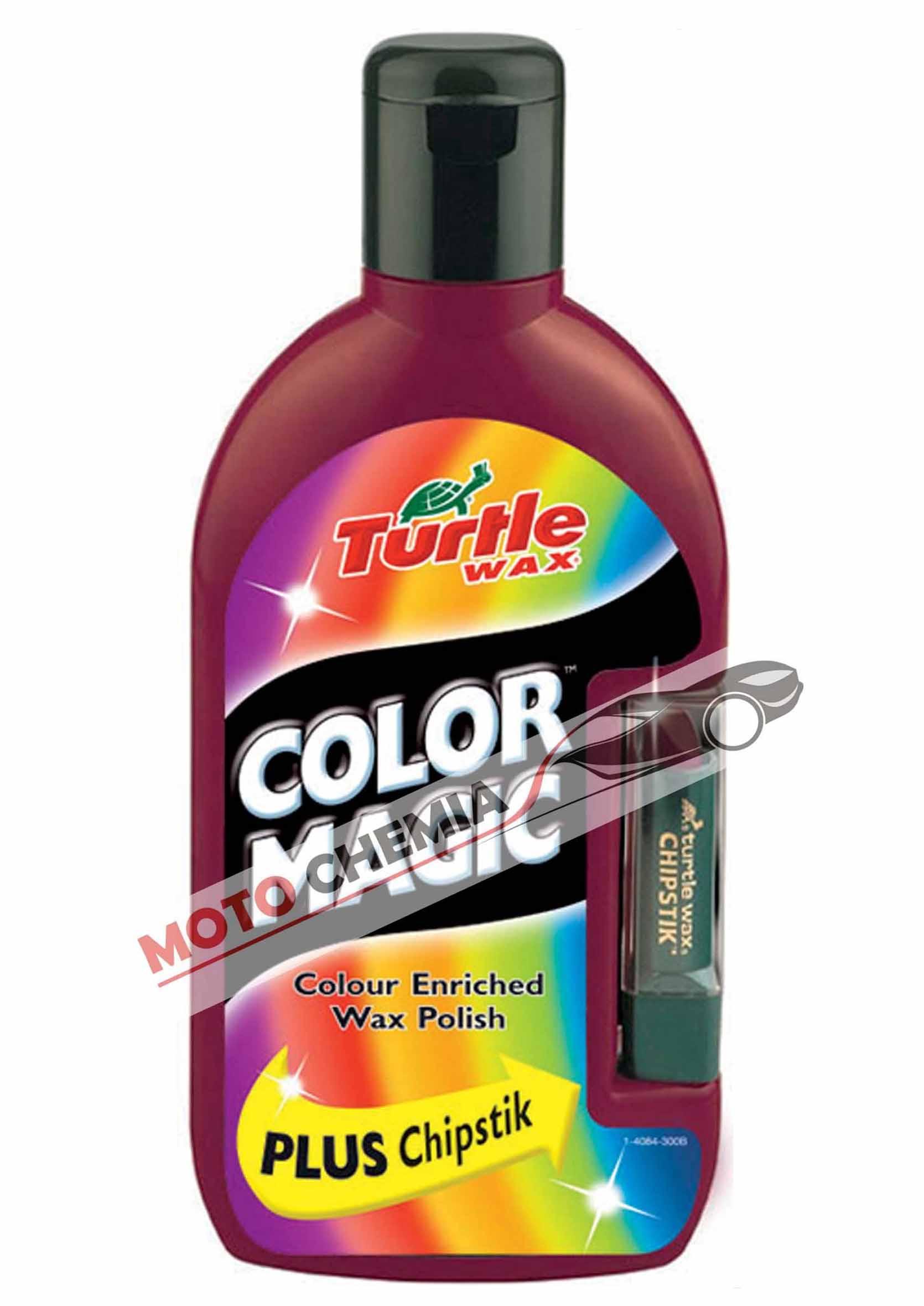 Color Magic Bordowy Wosk koloryzujący 500ml + kredka maskująca rysy Turtle Wax