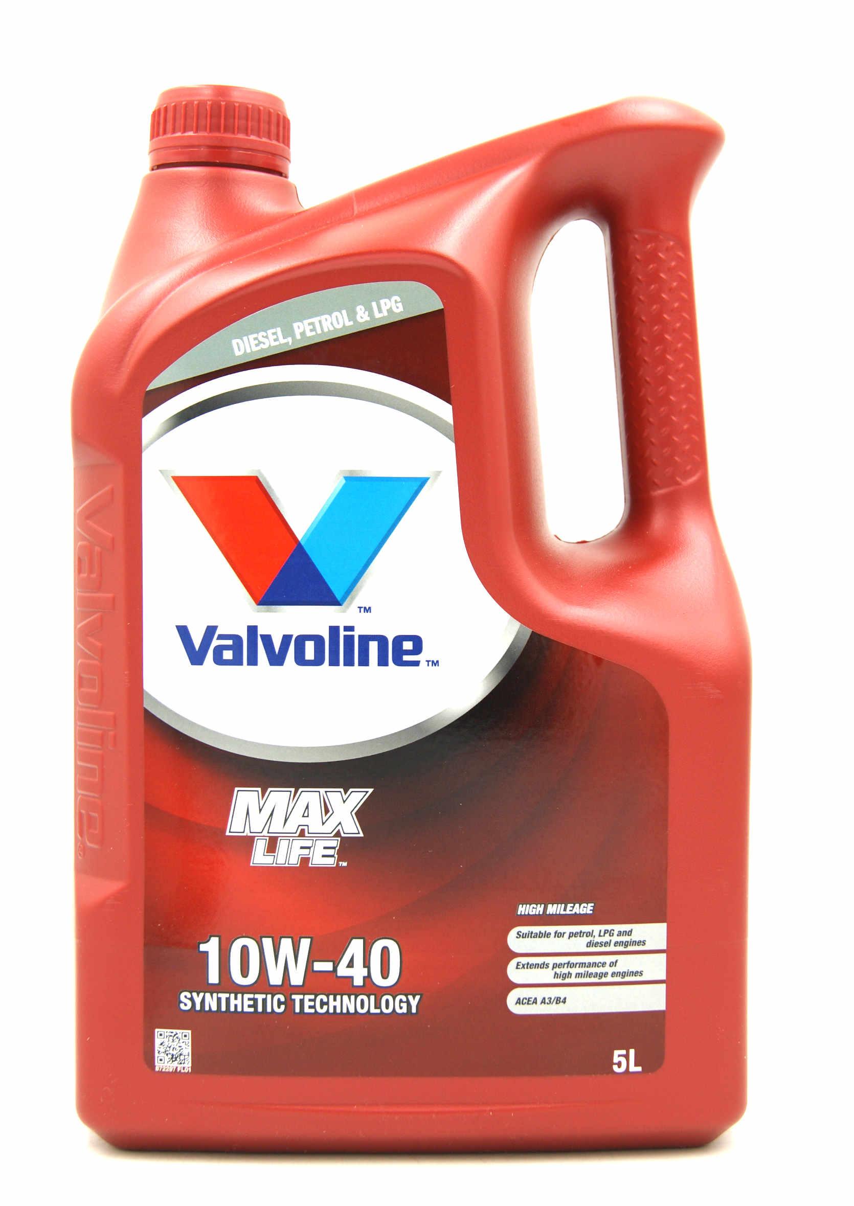 Valvoline MaxLife 10W40 5L Półsyntetyczny Olej Silnikowy