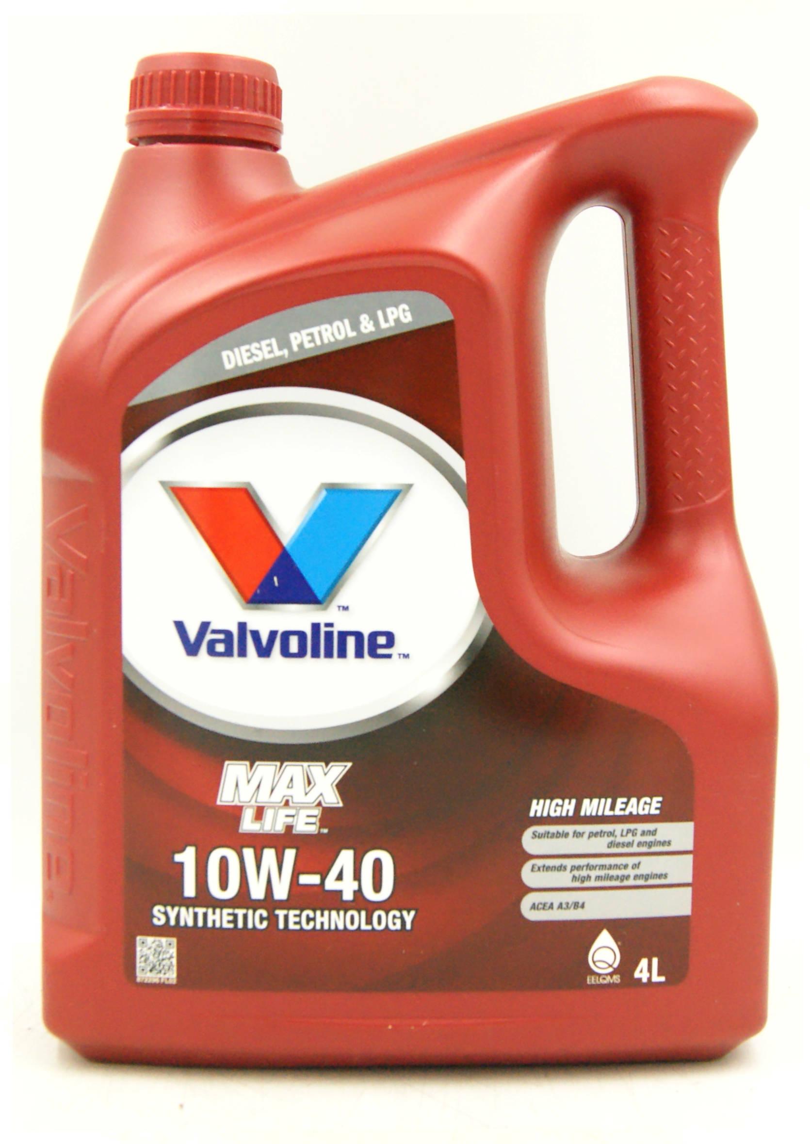 Valvoline MaxLife 10W40 4L Olej Silnikowy Półsyntetyczny