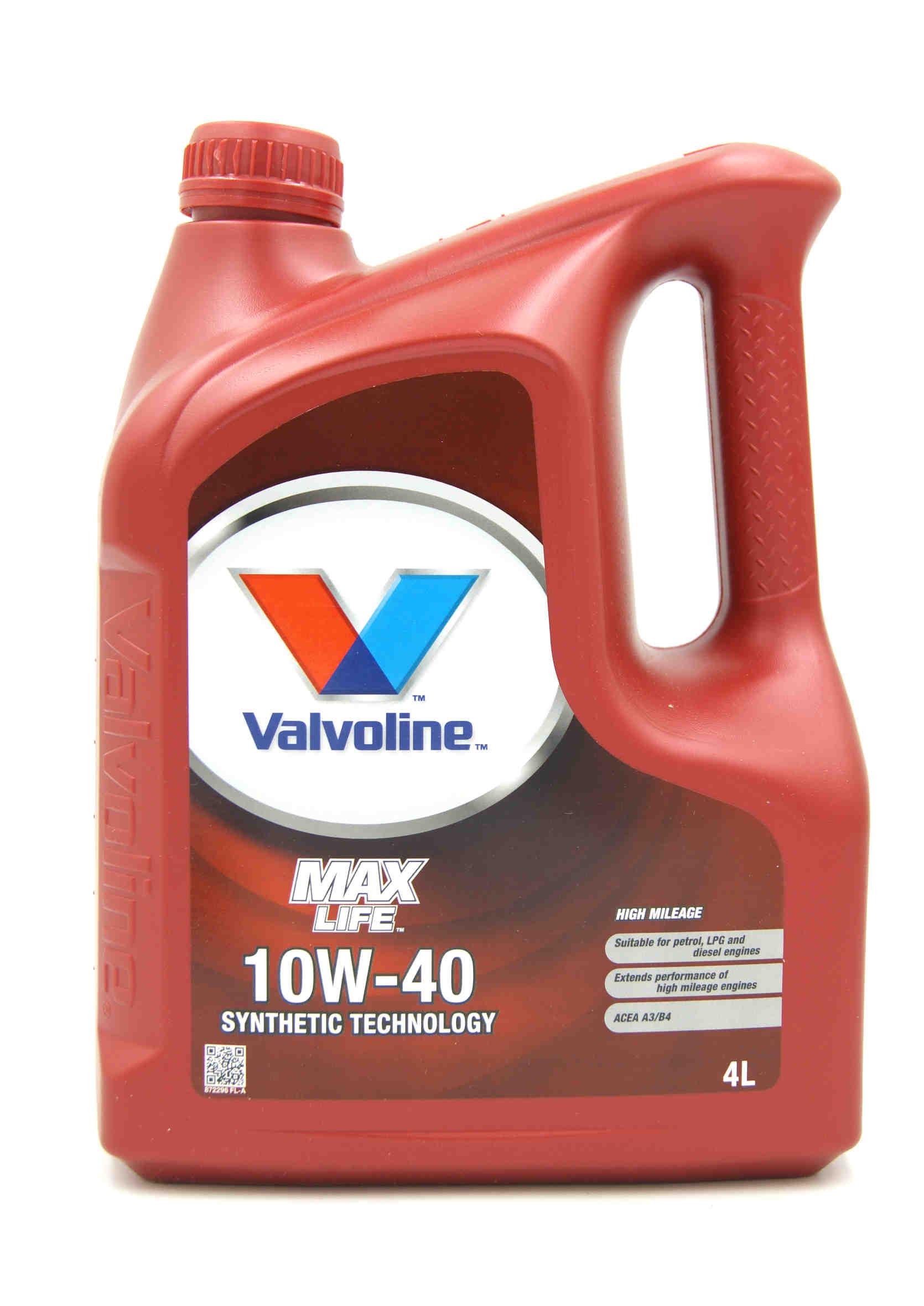 Olej Silnikowy Valvoline MaxLife 10W40 4L