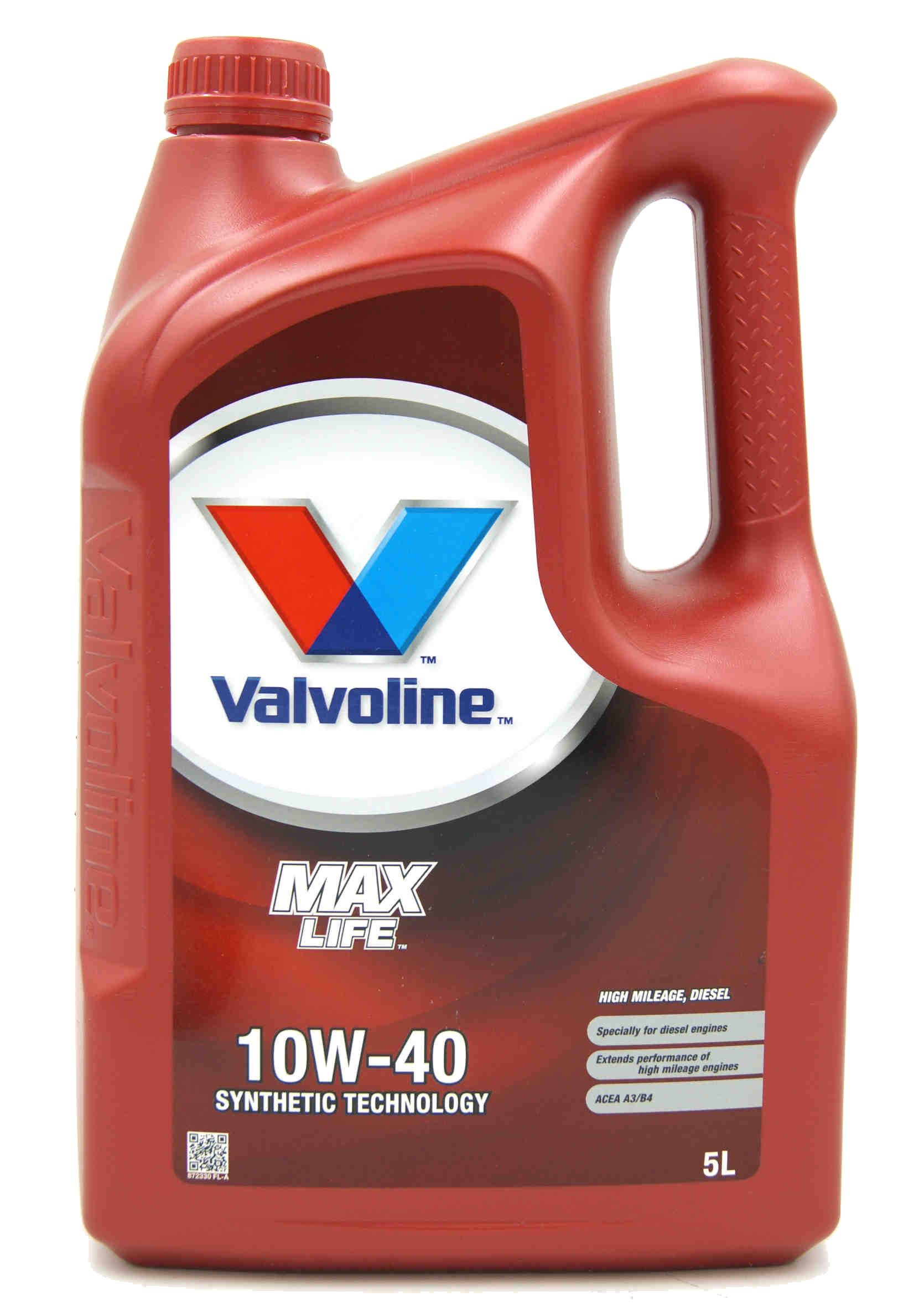 Valvoline MaxLife Diesel 10W-40 5L Olej Silnikowy Półsyntetyczny