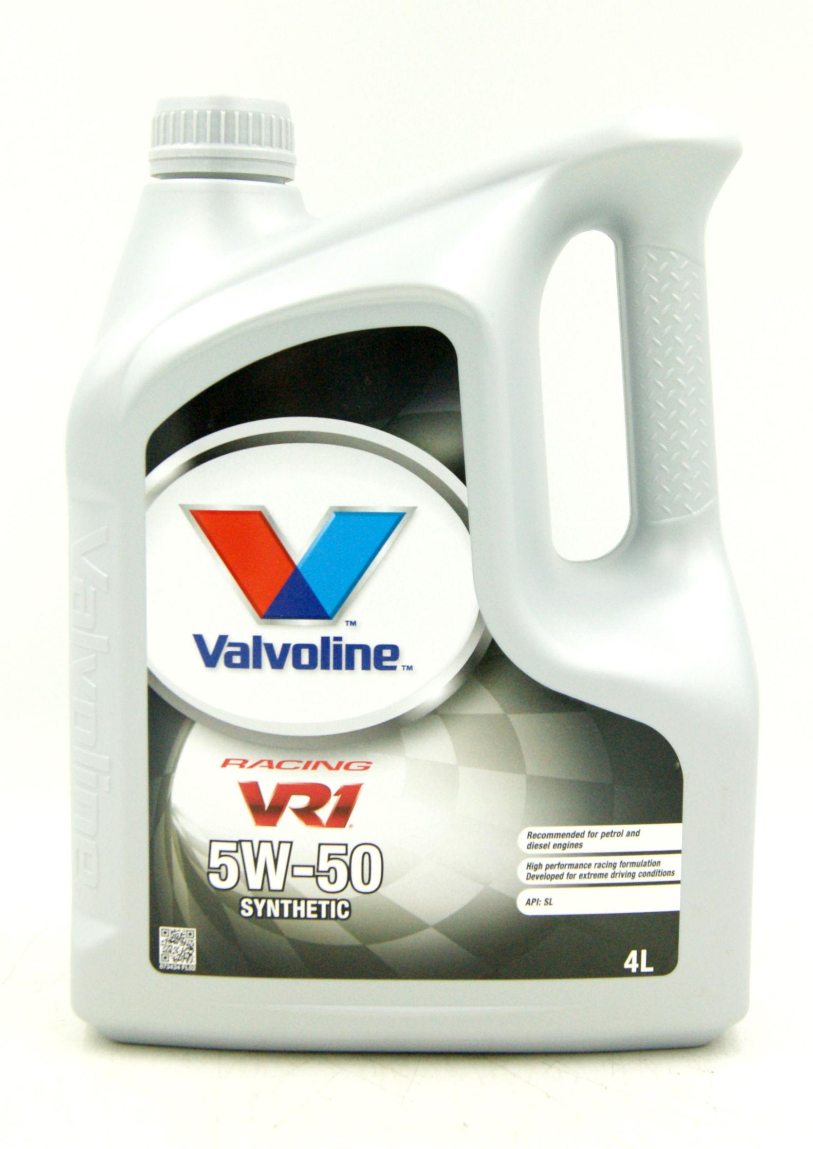 Valvoline VR1 Racing 5W50 4L Olej Silnikowy Syntetyczny