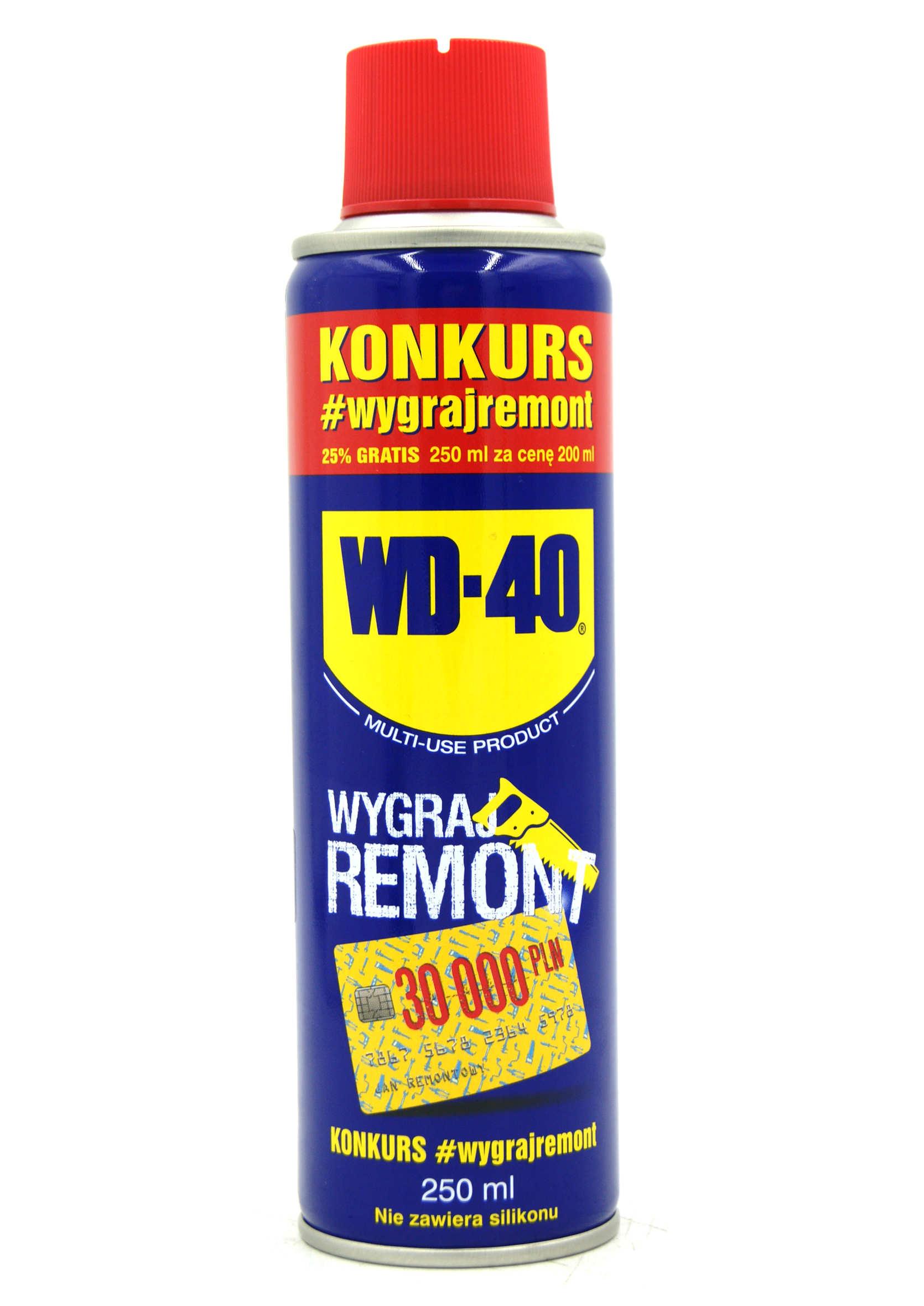 WD-40 250ml Preparat Wielozadaniowy WD40 Penetrant Smar Odrdzewiacz