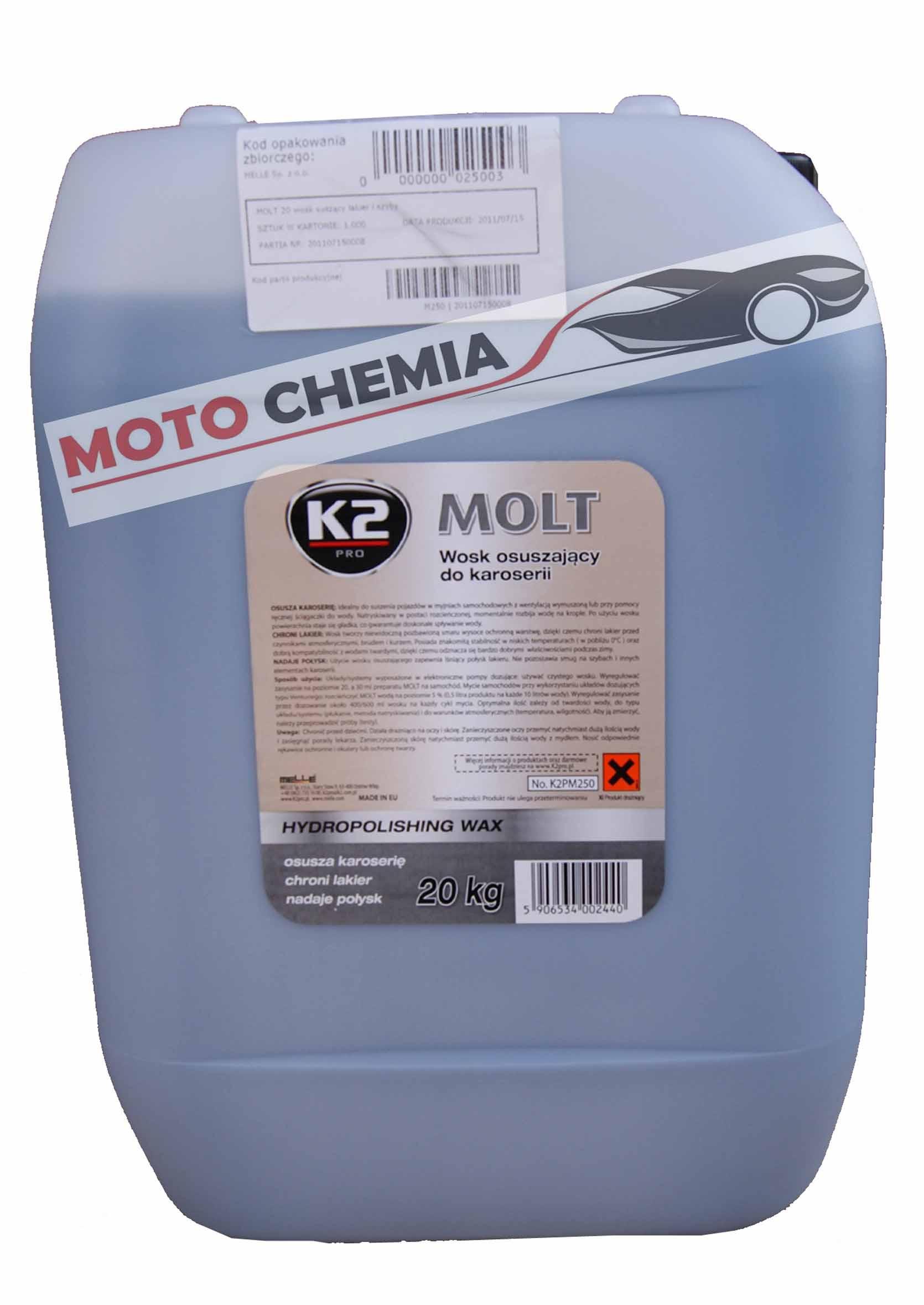 Hydrowosk suszący do lakieru K2 Pro Molt 20kg bez smug