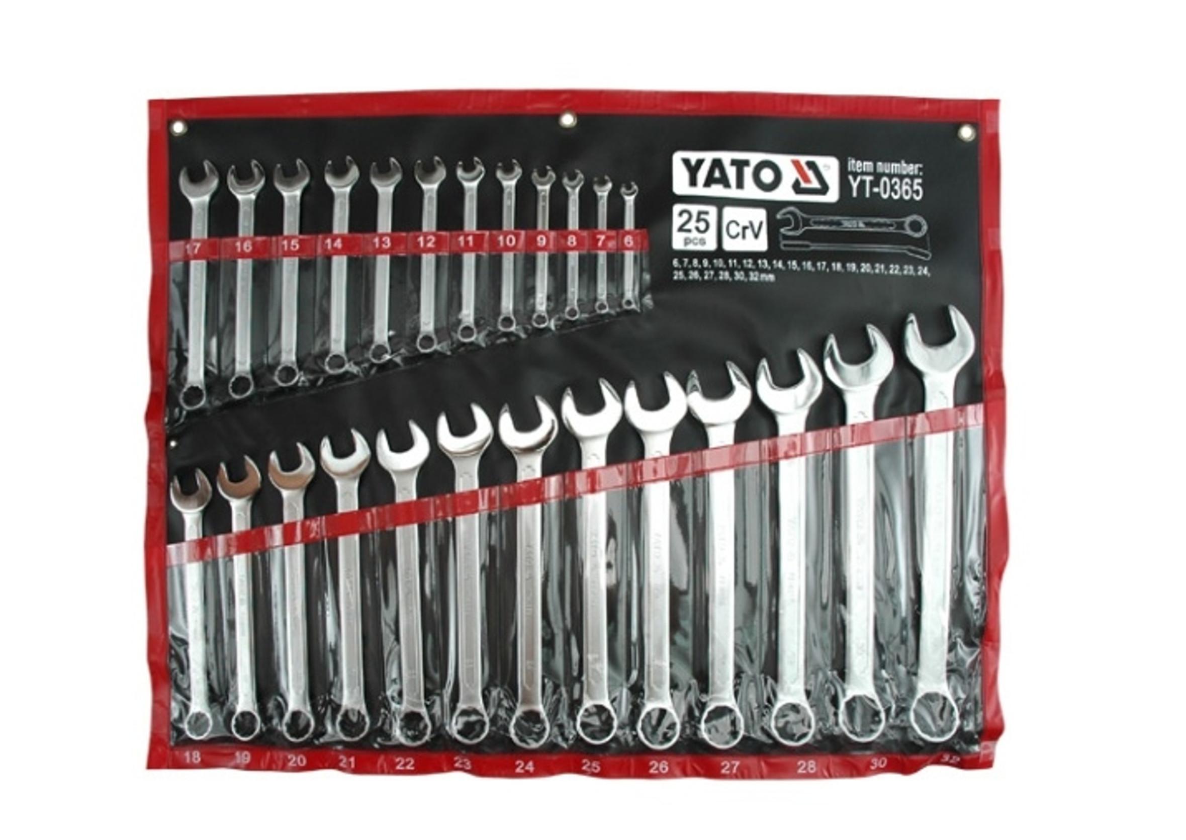 Yato YT-0365 Klucze Płasko-Oczkowe 6-32mm 25szt