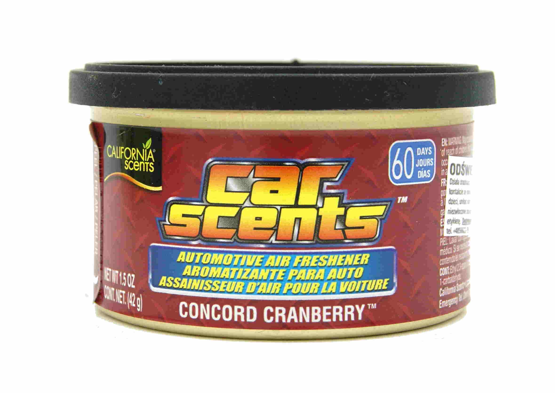 California Scents Concord Cranberry 42g Zapach Samochodowy Puszka