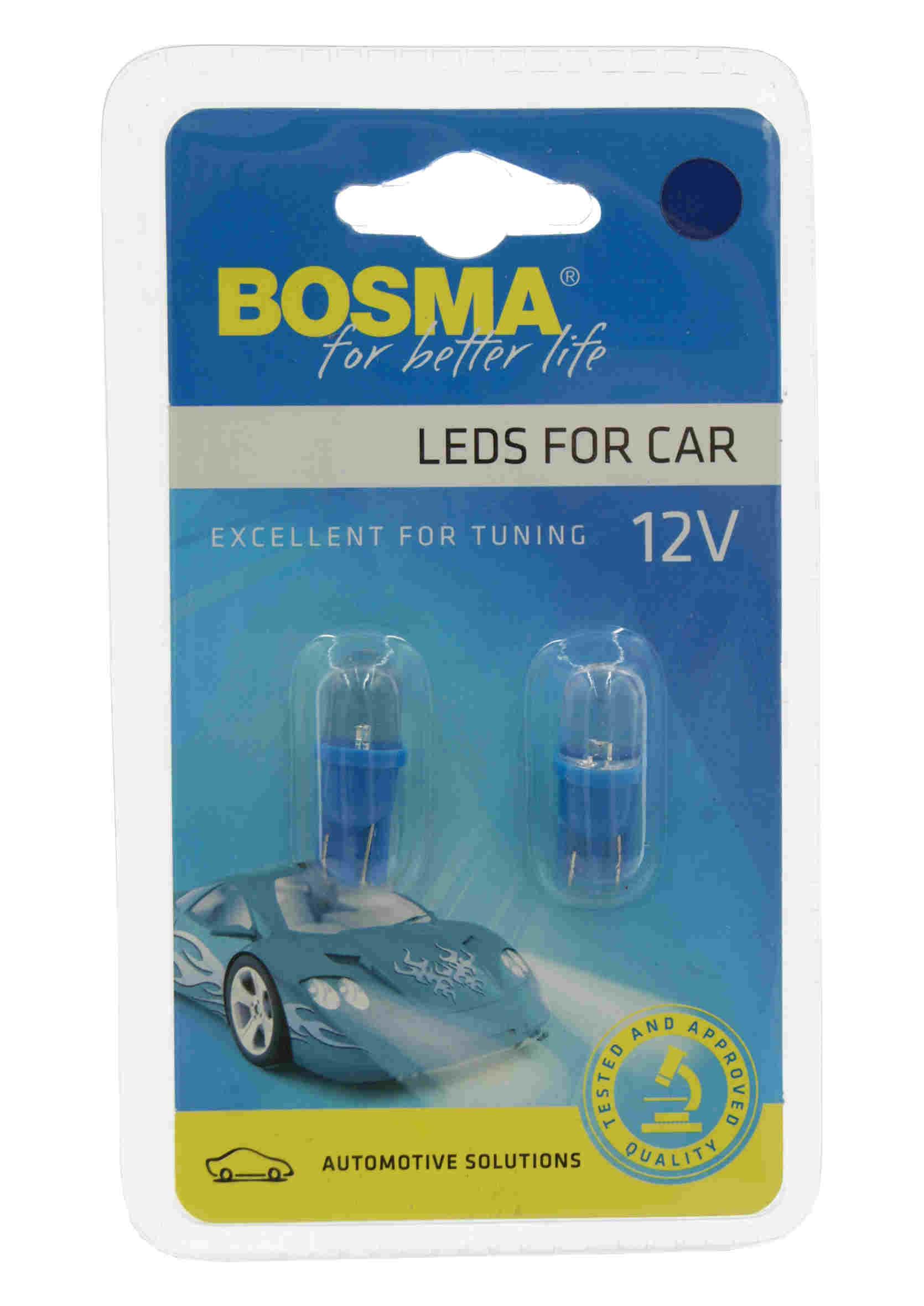 Bosma LED 2427 W5W 12V T10 1xLED Blue Żarówki Samochodowe Niebieskie 2szt.
