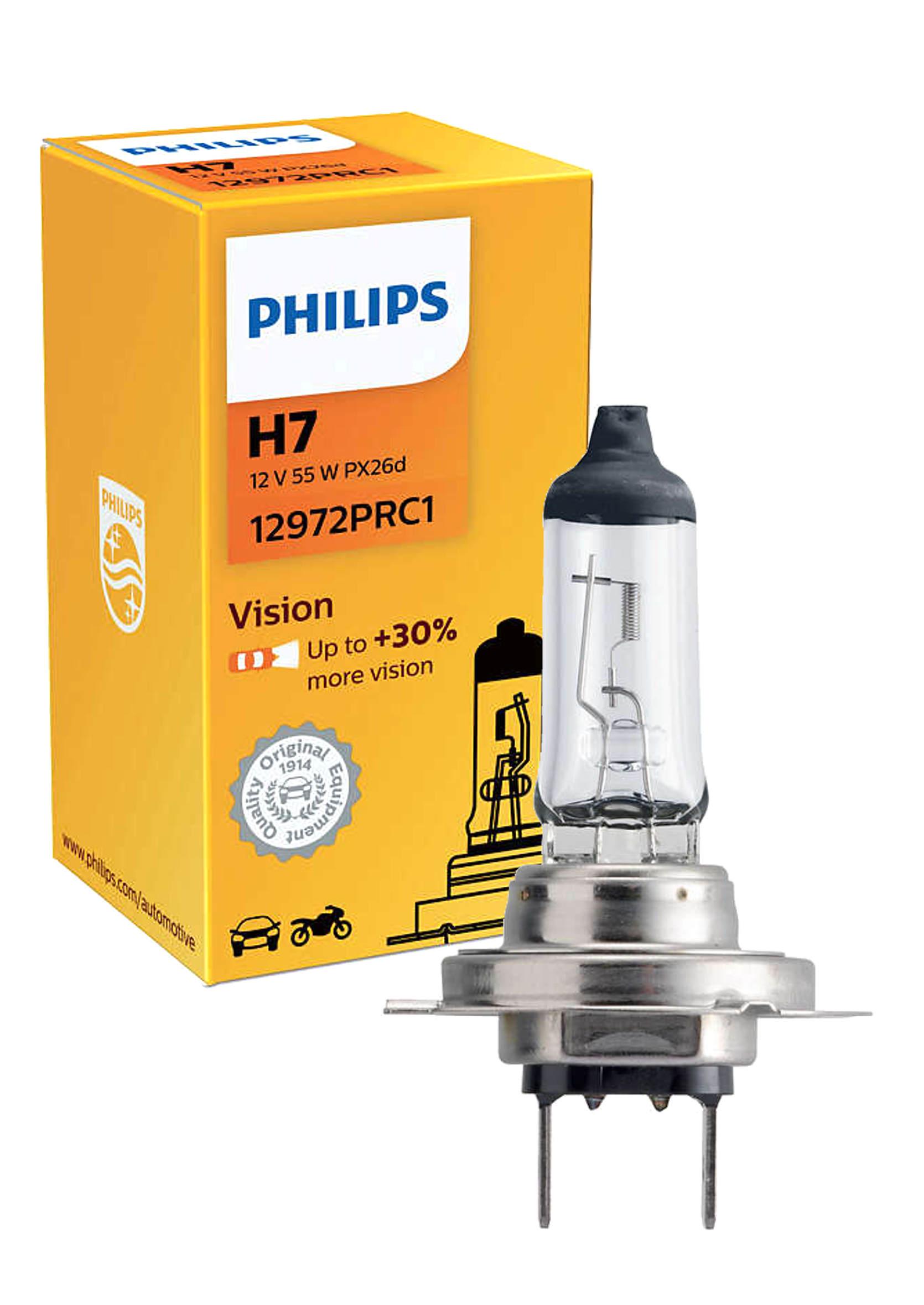 Philips Premium Vision +30% H7 12V 55W PX26d  Żarówka Samochodowa 1szt.