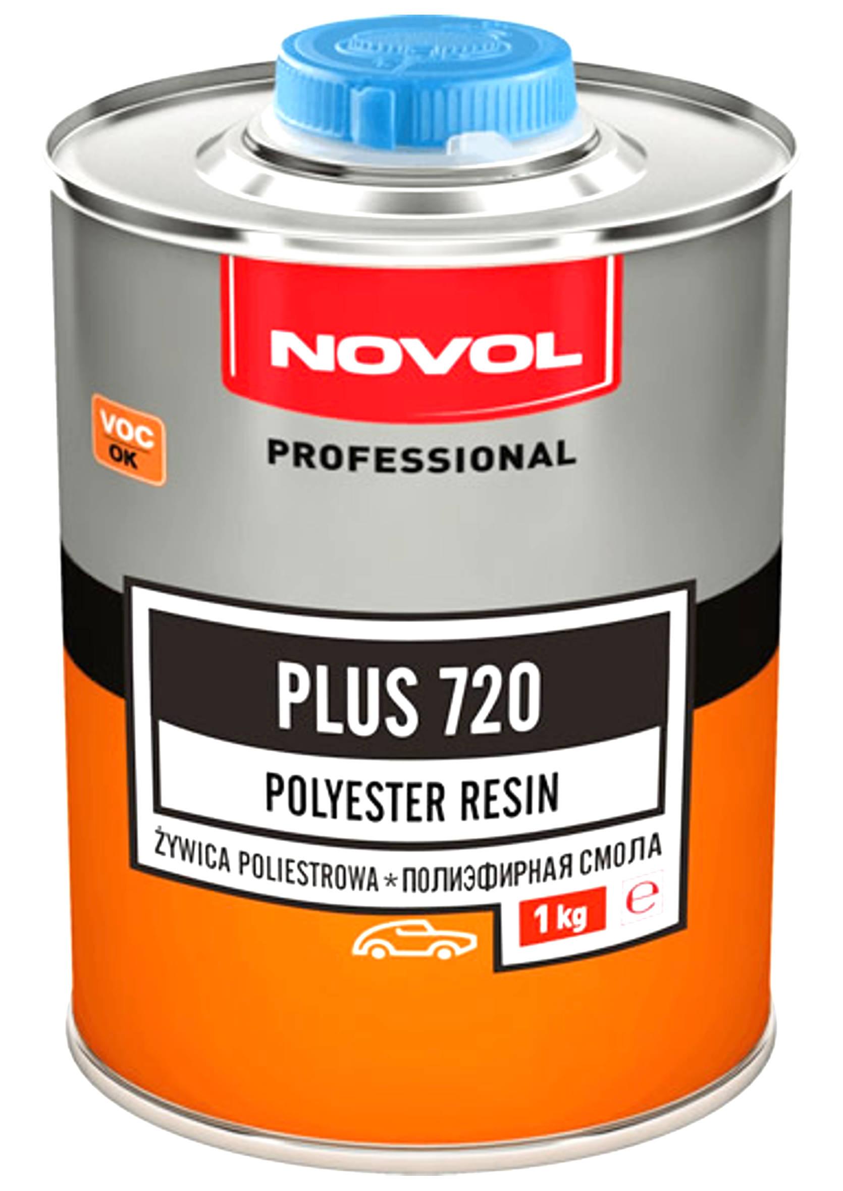 Zaawansowane → Novol Plus 720 1kg Żywica poliestrowa + utwardzacz Betox 50g YP46