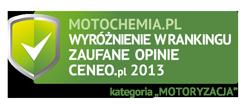 Motochemia.pl - wyró�nienie od Ceneo